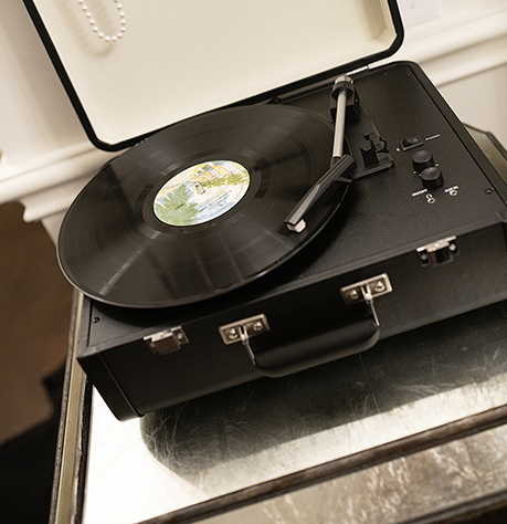 Hotel Room Music Record Players