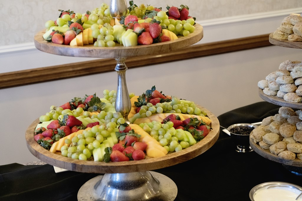 Fruit Display at a wedding reception in Oklahoma