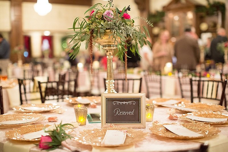 Wedding centerpiece idea at a wedding reception