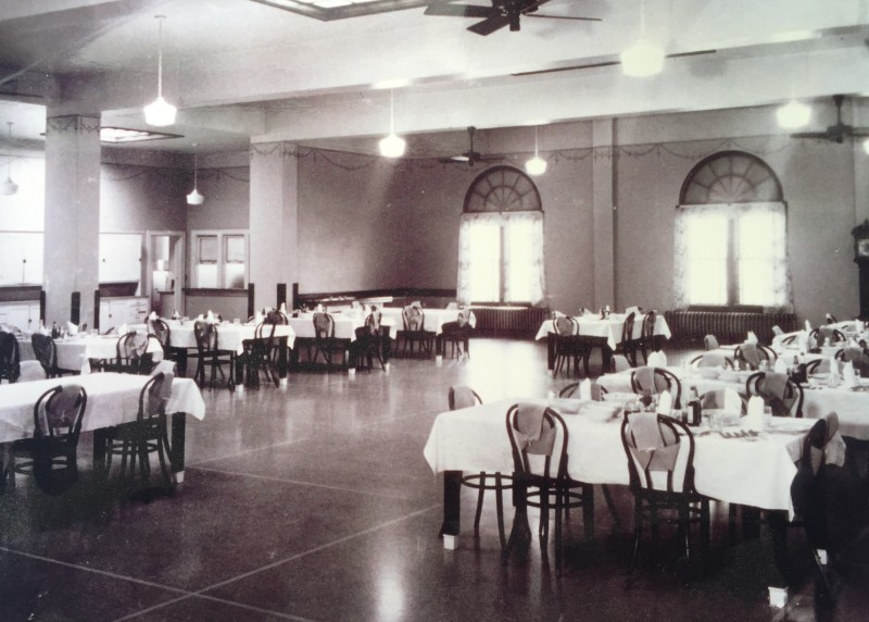 Black and white photo of Dominion House during orphanage
