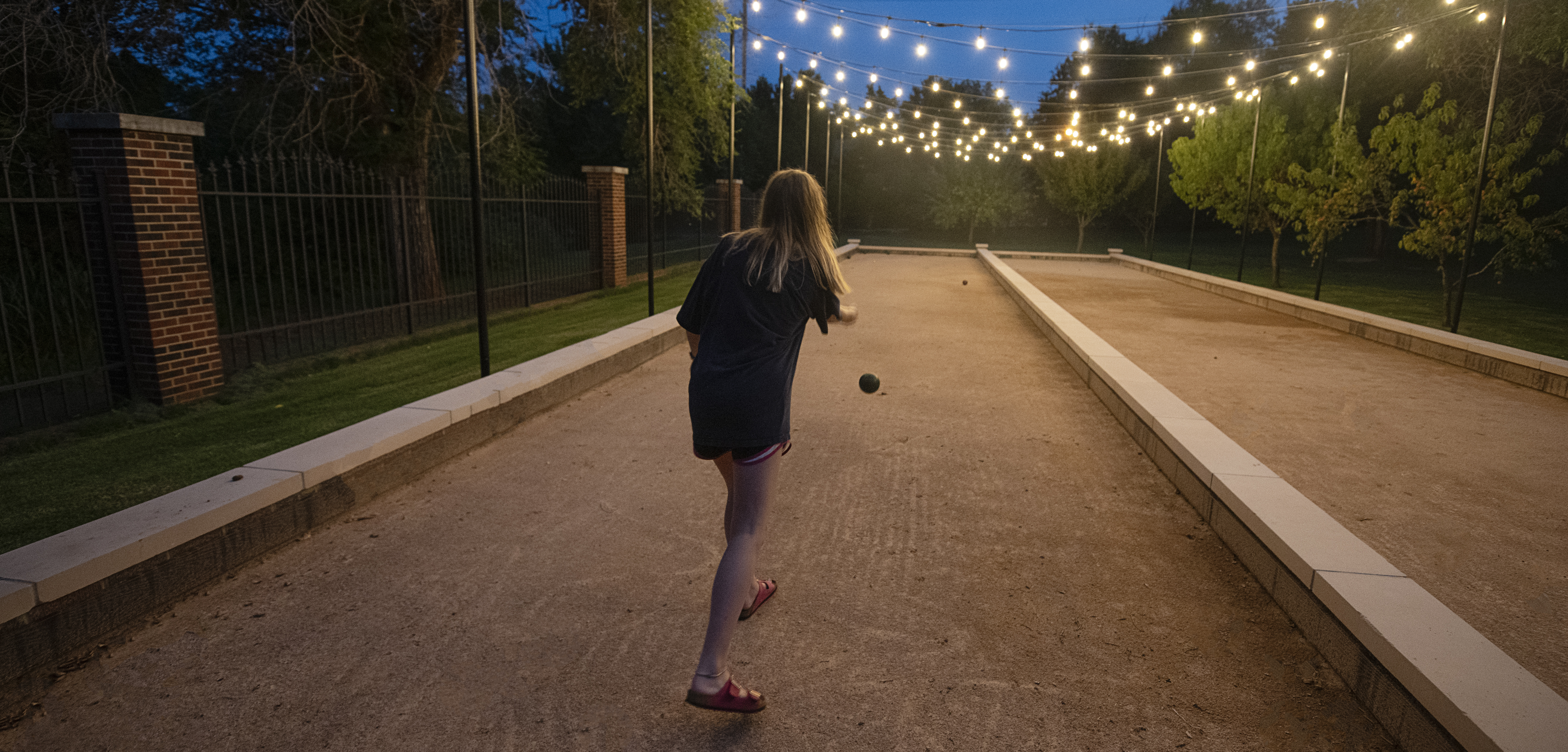 playing bocce ball at boutique hotel in Oklahoma